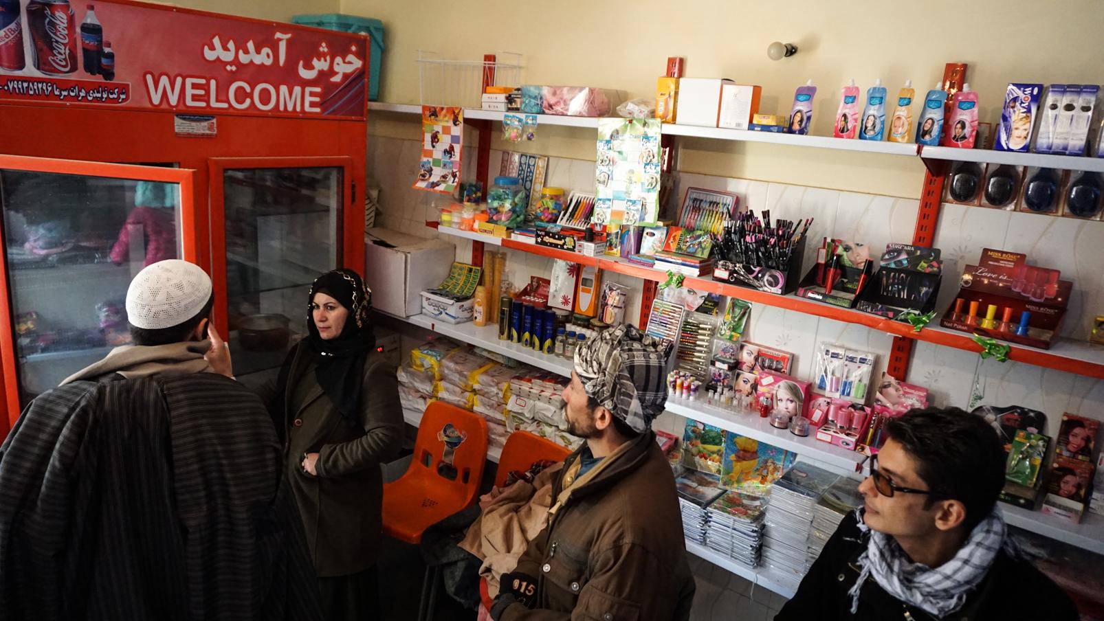 Der hauseigene Laden des Frauenkollektivs in Shakiban