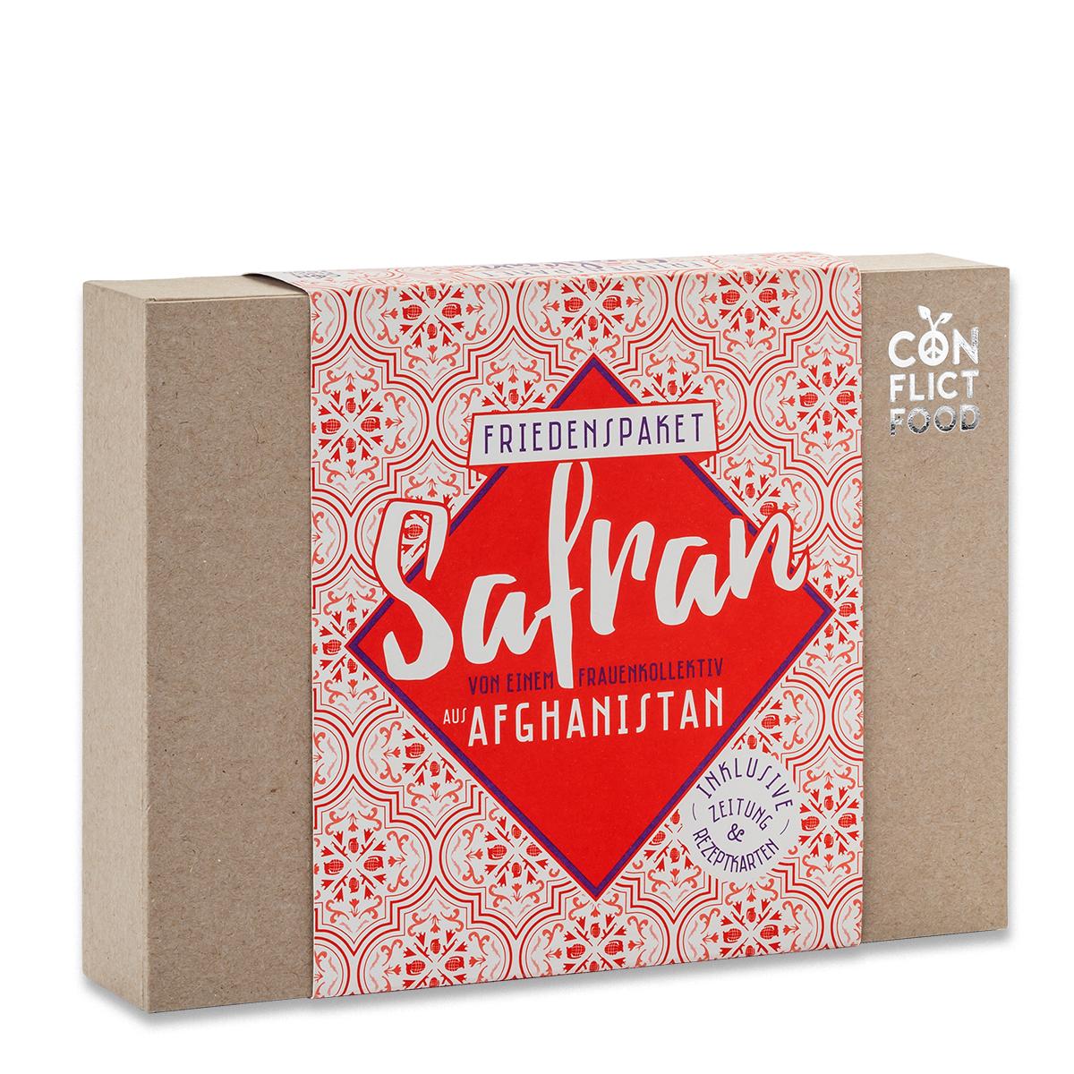 Afghanistan Box mit 1 g feinsten Safranfäden
